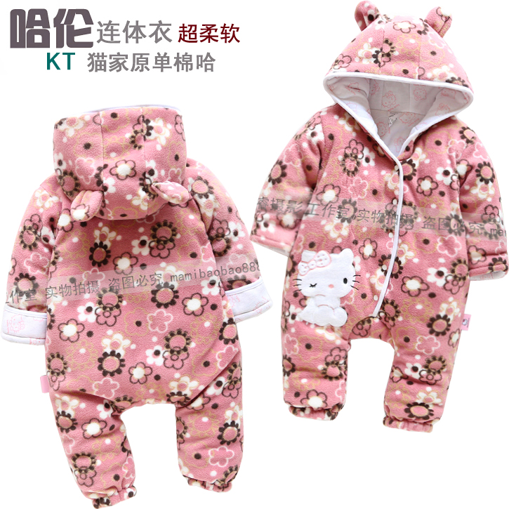 2013 New Arrive Retail fashion baby romper for autumn-winter fleece one piece children kids big pp  jumpsuit cotton-pad 6m-24m<br>