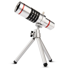 super universal 18X optical zoom mobile telescope Telephoto camera metal lens with tripod for Iphone Samsung HTC SONY smartphone