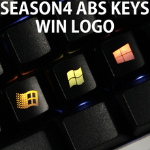 Novelty Shine Through Keycaps ABS Etched, light,Shine-Through win 98 xp 10 vista 8 7 oem profile red black(China)