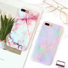 LOVECOM Hot Granite Marble Texture Phone Case For iPhone 6 6S 7 Plus Soft IMD Back Cover Mobile Phone Bags & Case