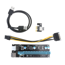 Buy USB 3.0 pci express riser PCI-E Express 1x Extender Riser Card Adapter 15pin sata 6PIN Power Cable BTC mining for $6.83 in AliExpress store