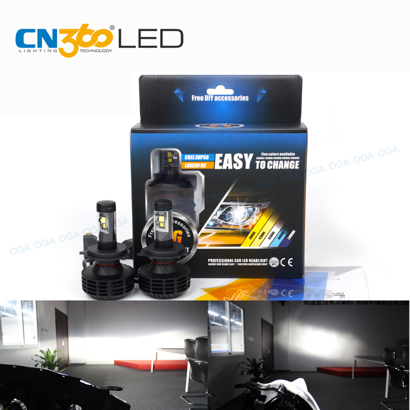 CN360 2PCS For LUXEON MZ &amp; CREE LED Chips Car LED Headlight Kit 44W 6000LM H4  9003 H7 H8 H9 H11 H13 9004 9005 HB3 9006 HB4 9007<br>