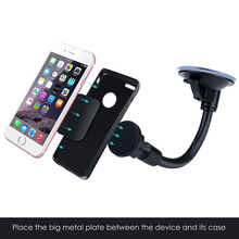 Magnetic Cradle-less Windshield Flexible Car Mount Holder Cell Phone Holder Stand for iPhone Samsung LG Nexus HTC Motorola Sony(China)