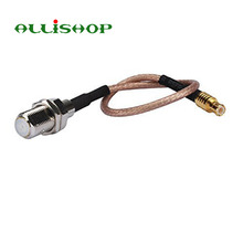 ALLISHOP 15cm RF coaxial coax cable assembly MCX male to F female 6'' connector