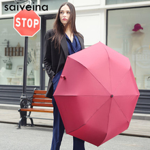 SAIVEINA Quality Mini Pocket Umbrella Clear Men's Umbrella Windproof Folding Umbrellas Women Compact Rain Umbrella(China)