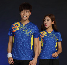 New Badminton shirt Women/Men's , sports Tennis wear shirt , Table Tennis shirt , Quick dry sportswear shirt 1835