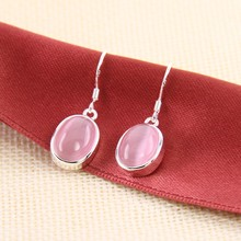 Oval Pink Stone Drop Earrings 6 Colors Thomas Style Glam or Soul Creole Earrings For Women TS Jewelry Christmas Gifts Bijoux
