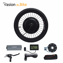 "PASION E BIKE 20"" Folding Road Bike Electric Bicycles Conversion Kit 48V 1500W Rear Wheel Motor Brake Disc Throttle"