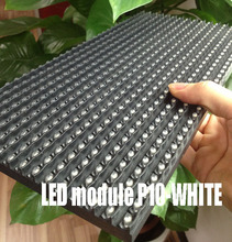 Free ship DHL 50pcs Outdoor white p10 led module outdoor DIP single colour white 320*160mm  led module waterproof  Free cable