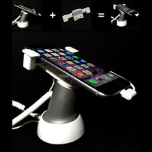 10xMobile cell phone tablet security stand display stand system burglar alarm holder rack white with security cable and clamp
