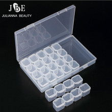 28 Compartment Empty Nail Art Decoration Storage Case Box Nail Glitter Rhinestone Crystal Beads Accessories Container Nail Tool(China)