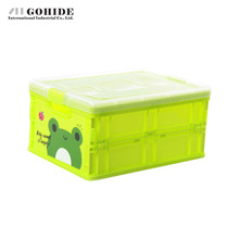 Gohide 1 pcs green Storage Box DIY Dawdler Retractable Storage Boxes With Lid Folding Storage Box Toy 21x15x10cm boxes