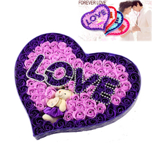 2017 NEW Elegant LOVE100 Rose Flower Soap Lace Soap Wedding Favors Heart Shaped Design Gift Pillow Cushion 520 Girlfriend Gift