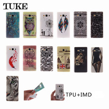 TUKE Fashion Painted Pattern TPU Silicone Soft sFor Samsung Galaxy E5 Case For Samsung Galaxy E5 E500 Cell Phone Back Cover Case(China)