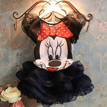 Minnie Dresses Baby Girls Cute Sundress Kids Cotton Minnie Mouse Dress Christmas Party Kids Girls Casual Ball Gown Dresses