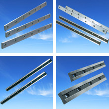 Long straight shear blade for cutting sheet steel