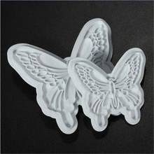 2PCS/Lot Classic Butterfly Fondant Cutter Sugarcraft Cake Decorating Tools Plastic Cake Plunger Cutter Molds Free Shipping