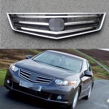 1 PC Front Bumper Chrome Upper Mesh Grille Grill Insert for Honda Accord 2009-2010