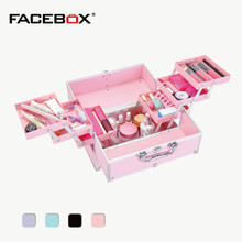 Professional Aluminum Makeup Cosmetic Train Case Makeup Box Cosmetic Case Makeup Bags Large Space(China)