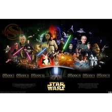 Star Wars Poster Print Silk Fabric Print Poster Print Cloth Fabric Wall Poster Custom Satin Poster CD&1(China)