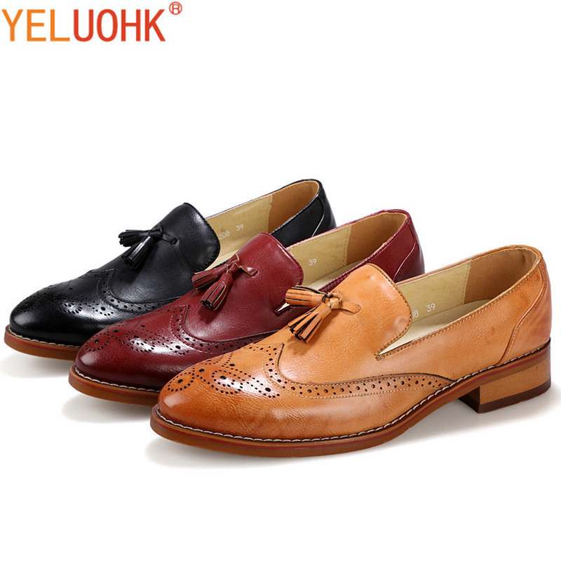 Brand Men Shoes Casual Pointed Toe Leather Shoes Men Loafers Slip On Moccasins Men Autumn Shoes Fringe<br>