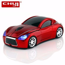 CHYI Computer Mouse Infiniti Sports Car Wireless Mouse Cool Optical 2.4GHz Gamer Gaming Hot Sale 1600 DPI Mice For Mac PC Laptop(China)