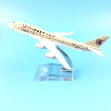 16cm Alloy Metal Air QATAR Airways Boeing 747 B747 400 Airlines Plane Model Aircraft Airplane Model w Stand Craft Gift(China)