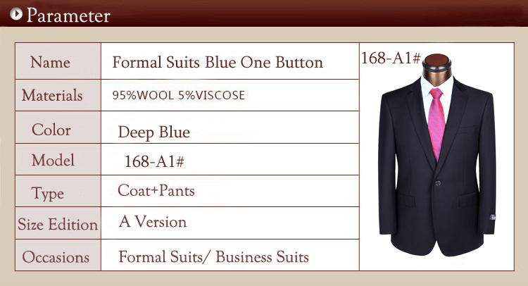 formal suits blue