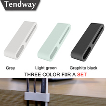 3pcs Tendway 3M Cable Clip Cable Organizer USB Charger Cable Holder Rubber Charging Cable Winder Stand for TV Phone Desktop Tidy