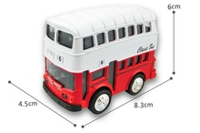 Die cast metal car model Version 1:36Q Double decker bus pull back car model Children's toy car