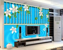 3d wallpaper for room Peach blossom Bamboo backdrop TV wall corrugated wall 3d wallpaper photo wallpaper for walls(China)