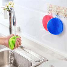 New Multifunction Silicone Dish Bowl Cleaning Brush Dish Brushes Fruits and Vegetables sponge Kitchen Pot Cleaner Washing Tool(China)
