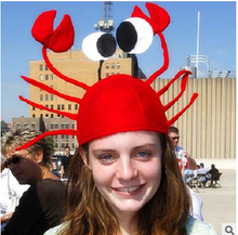 Funny crab hat carnival Festival decoration crab lobster head dress adult children christmas hat Dionysia Karneval hat(China)