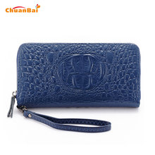 New Fashion Women Wallets Blue Alligator Long Thin Wallet Women Wallet Luxury Brand Womens Wallets And Purses Clutch Bags CBP116