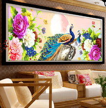 5D DIY Diamond Painting Peacock Needlework Diamond Mosaic Diamond Embroidery swan Pattern Hobbies and Crafts Home Decor Gifts(China)