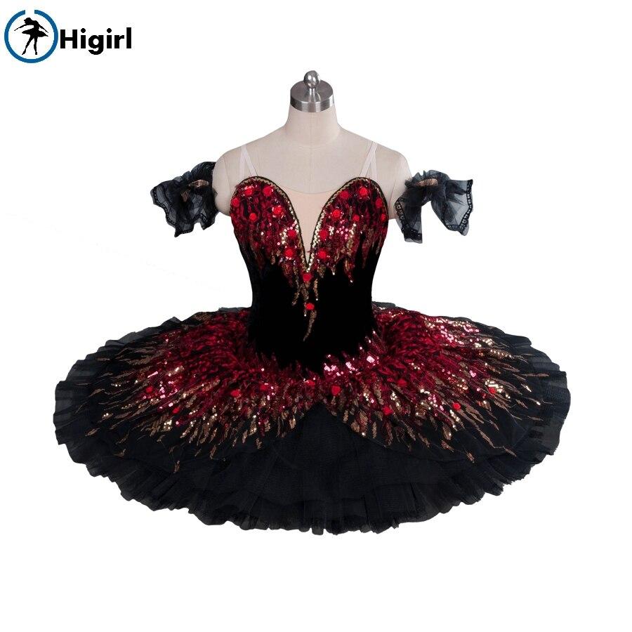 black red ballet tutu for girls ballet costumes professional ballet tutu adult pancake tutu nutcracker tutu BT9045B