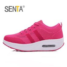 Buy SENTA 2018 women sneakers breathable height increasing flywire air sole walking shoes women sports outdoors sport for $23.10 in AliExpress store