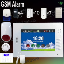 Newest Rechargeable Battery Wireless & Wired Home Security GSM Alarm System HG008