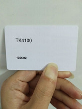 low cost pvc thin EM proximity TK4100 chip 125khz rfid hotel key card contactless blank smart card with serial number