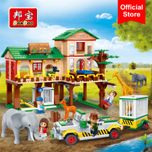 BanBao 6651 Building Blocks National Zoo Camp Safari Animal Bricks Educational Model Toys Kids Children Compatible With Legoe(China)