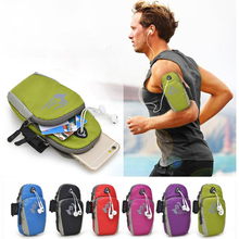 For Samsung Xiaomi Huawei Zte Lenovo Micromax Mobile Phone Under 5.5Inch Waterproof Nylon Running Bag Sport Arm Band Case(China)