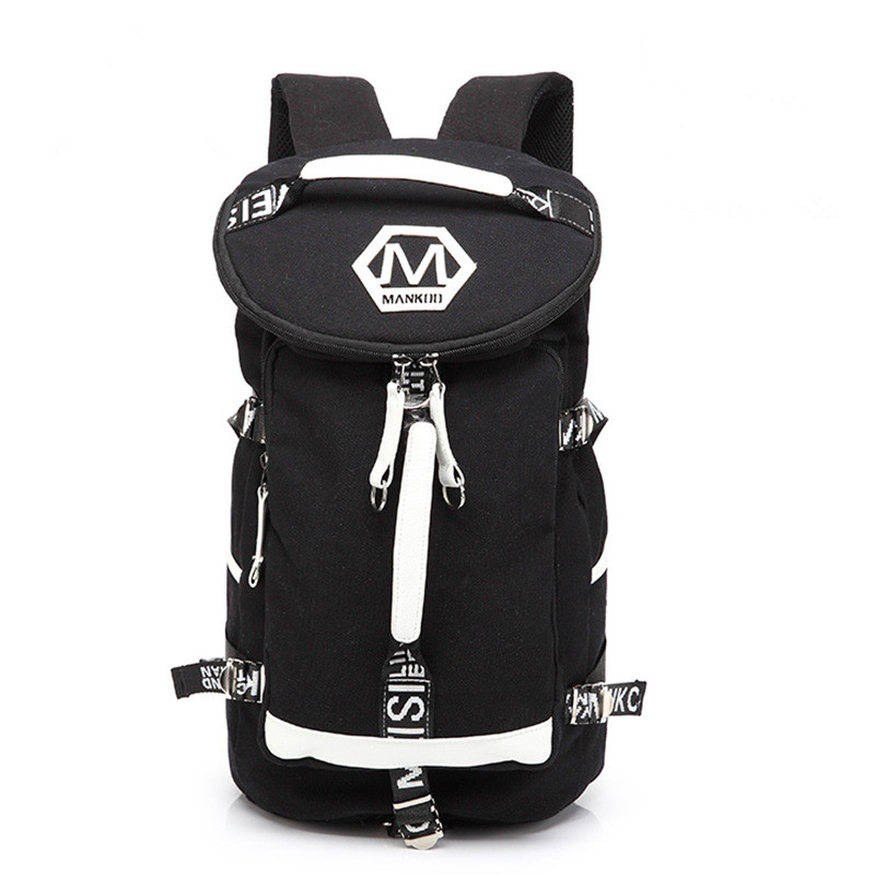 2017 Large Capacity Cool Black Canvas Men Backpack Promotion mens canvas bag Laptop Backpack Canvas Travel Backpack mochila<br>