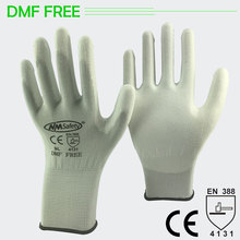NMSAFETY High Quality 12 Pairs Environmentally Not DMF White Nylon Cotton Knit Antistatic Glove Work luvas
