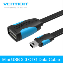Vention Mini USB 2.0 OTG Cable Mini USB Otg Data Cable Adapter 10cm/20cm male to female for Tablet PC/MP3/Cellphone /GPS(China)
