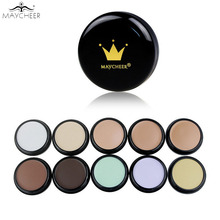 MAYCHEER Brand Base Makeup Concealer Foundation Cream 10 Color Oil-control Moisturizing Cover Pore Camouflage Contouring Palette(China)