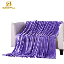 Coral Fleece Blanket On The Bed Purple Color Printed Bedspread Adult Twin Queen King Size Faux Fur Warm Throw Plaid Blankets(China)