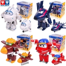 Big Size 12cm Super Wings Deformation Airplane Robot Action Figures Transformation robot toys for children gift Brinquedos(China)