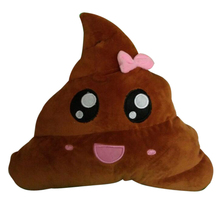 FUNIQUE 20cm Pink&Purple Amusing Emoji Emoticon Cushion Poop/poo Shape Throw Pillow Doll Toy Cushion Funny Pillow