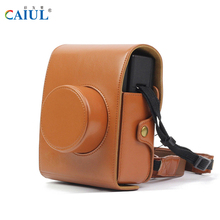 CAIUL LOMO Instant Automat Camera Bag PU Leather Material Shoulder Bag With straps For Fujifilm LOMO Instant Camera Case bags(China)