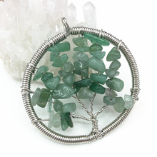 High quality natural stone green aventurine gravel chalcedony energy pendant 50mm silver-color charms wire winding jewelry B3049